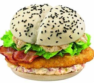 white bun burger