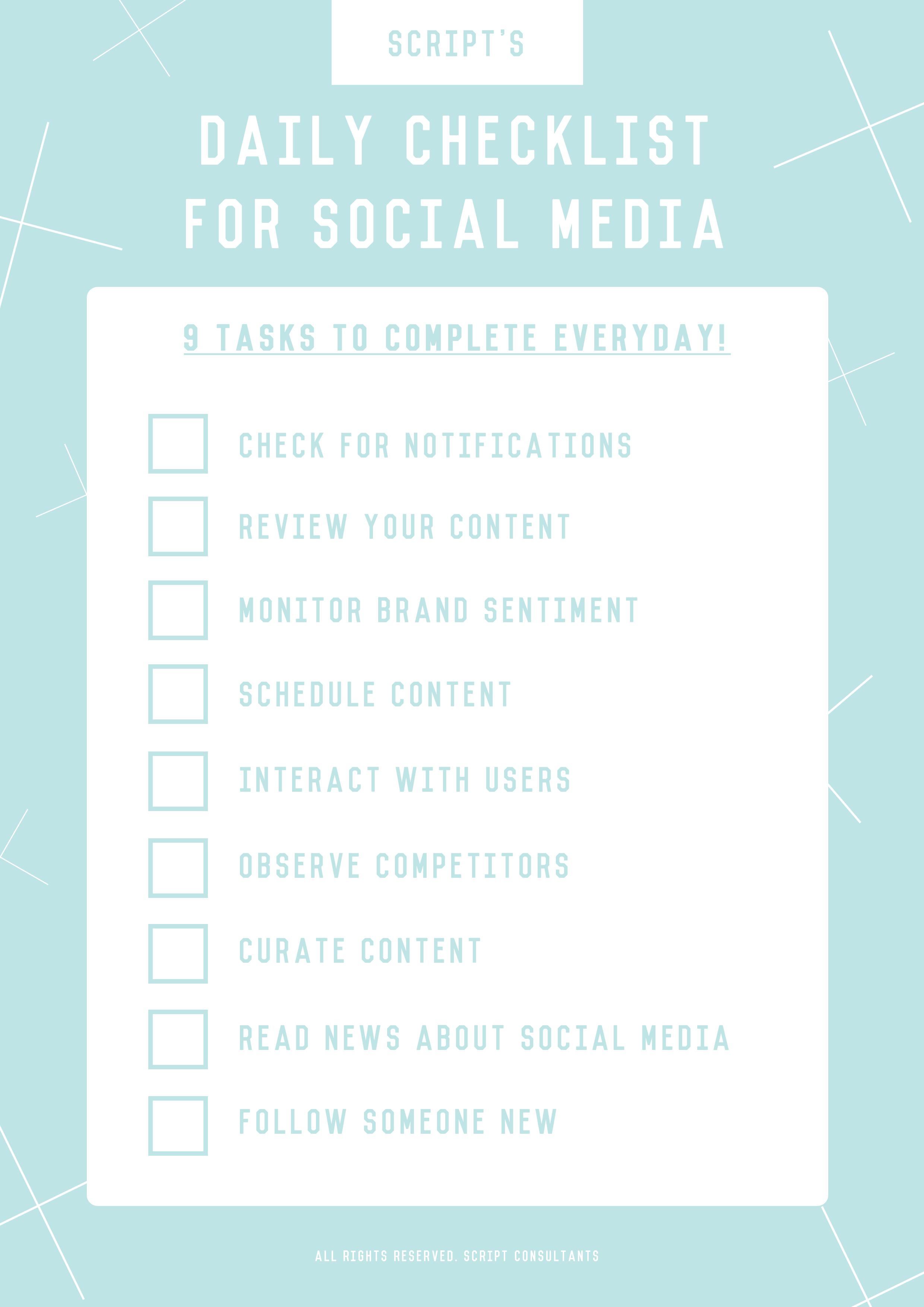 checklistsocialmedia