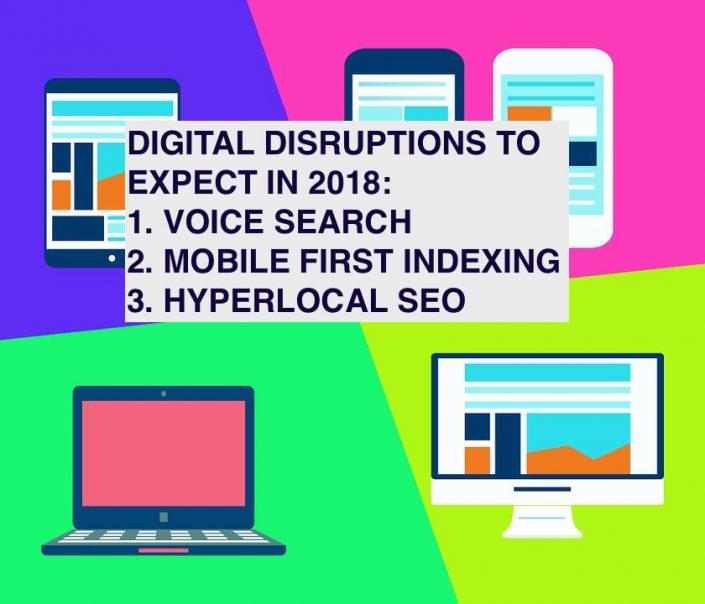 Digital marketing disruptions