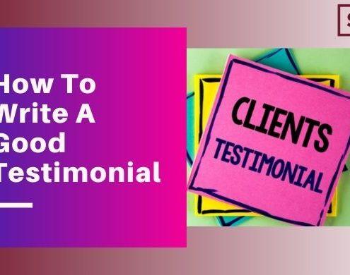How To Write A Good Testimonial