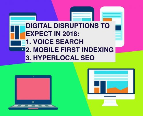 Digital marketing disruptions