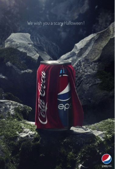 Pepsi Halloween Ad Taking A Funny Dig on Coca-Cola