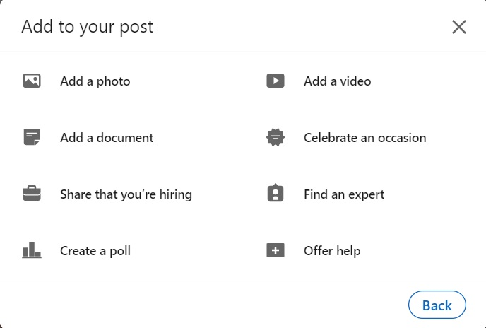 Post Types on LinkedIn
